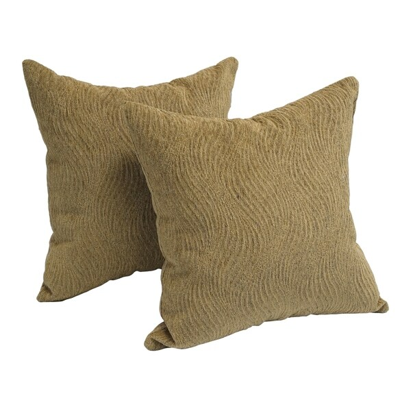 Worthington Wave 17-inch Chenille Accent Throw Pillow (Set of 2)