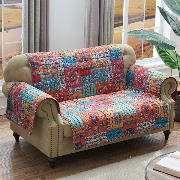 Shop Barefoot Bungalow Indie Spice Loveseat Protector