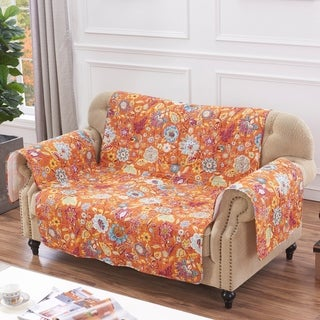 Greenland Home Astoria Spice Loveseat Protector