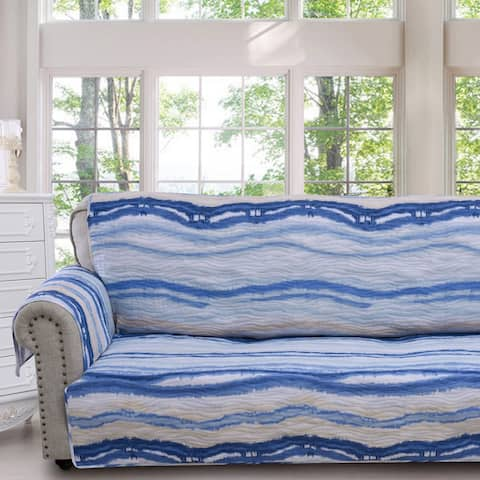 Barefoot Bungalow Crystal Cove Blue Sofa Protector