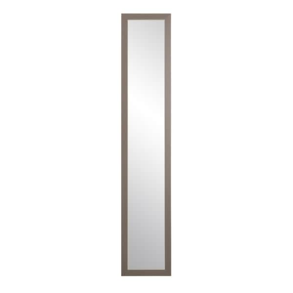 Modern Matte Gray Slim Floor Mirror - matte grey