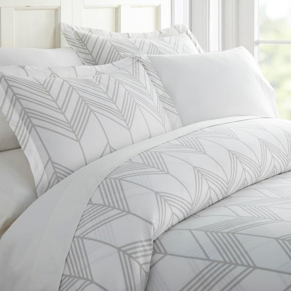 Merit Linens Premium Ultra Soft Alps Chevron Pattern 3 Piece Duvet Cover Set