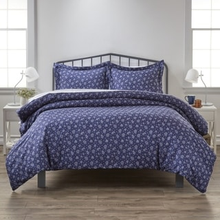 Link to Merit Linens Premium Ultra Soft Midnight Blossoms Pattern 3 Piece Duvet Cover Set Similar Items in Duvet Covers & Sets