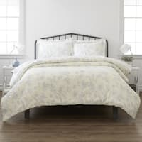Merit Linens Premium Ultra Soft Garden Pattern 3 Piece Duvet Cover Set