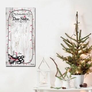 Ready2HangArt 'Christmas List' ArtPlexi Dry-Erase Memo Board - 16 in. h x 8 in. w