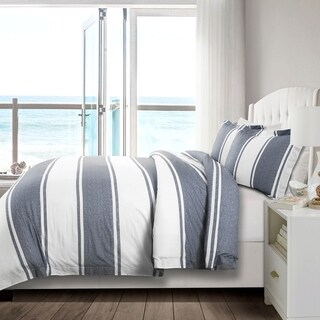 Lush Decor Rawson Stripe 3 Piece Duvet Cover Set