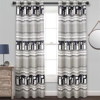 Lush Decor Llama Stripe Room Darkening Window Curtain Panel Pair