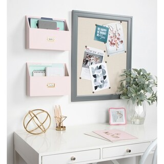 Kate and Laurel Francesca Pocket Shelves - 2 Piece