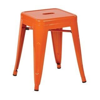 """OSP Home Furnishings Patterson 18"""" Metal Backless Stool 2-Pack"""
