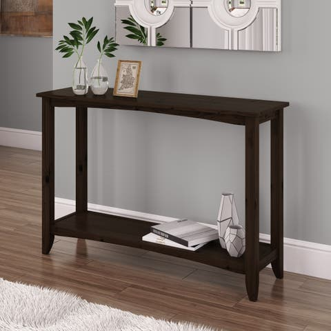 CorLiving Cambridge Two-Tiered Stained Console Table