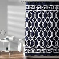 Lush Decor Maze Border Shower Curtain