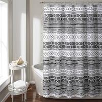 Lush Decor Hygge Geo Shower Curtain