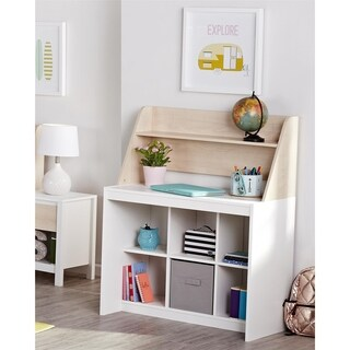 Novogratz Addision Natural Desk with Hutch
