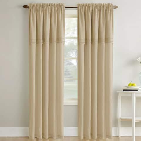 Modern Threads Sheer Textured Macrame Lace Curtain Panel Pair - 52x84