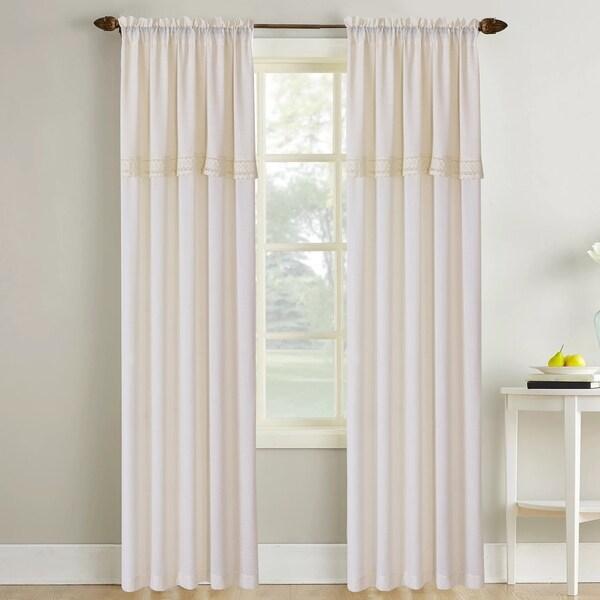 Amrapur Overseas Sheer Textured Macramé Lace Curtain Panel Pair - 52x84