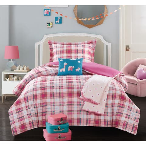 Chic Home Cady 5 Piece Patchwork Animal Theme Youth Comforter Set