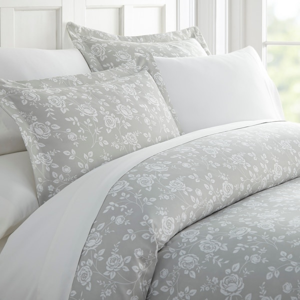 Shop Merit Linens Premium Ultra Soft Rose Gray Pattern 3