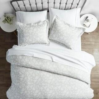 Merit Linens Premium Ultra Soft Rose Gray Pattern 3 Piece Duvet Cover Set