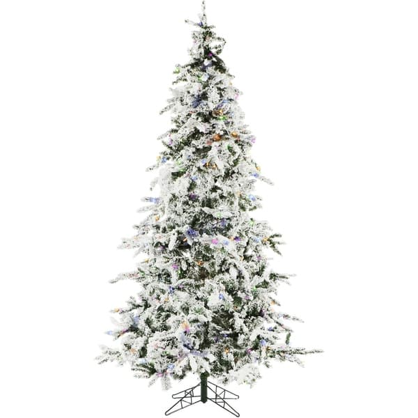 Shop Christmas Time 7 5 Ft White Pine Snowy Artificial