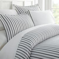 Merit Linens Premium Ultra Soft Vertical Dreams Pattern 3 Piece Duvet Cover Set