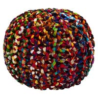 "20"" Brilliant Ribbon Rope Pouf"