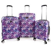 Bebe Gia 3-pc Hardside Spinner Luggage Set