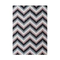 The Alliyah Eclectic Zigzag Patterned Rug A Simply Made In 100 Pure Wool Fibers 5x8 - 5' x 8'