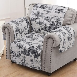 Greenland Home Classic Toile Black Armchair Protector