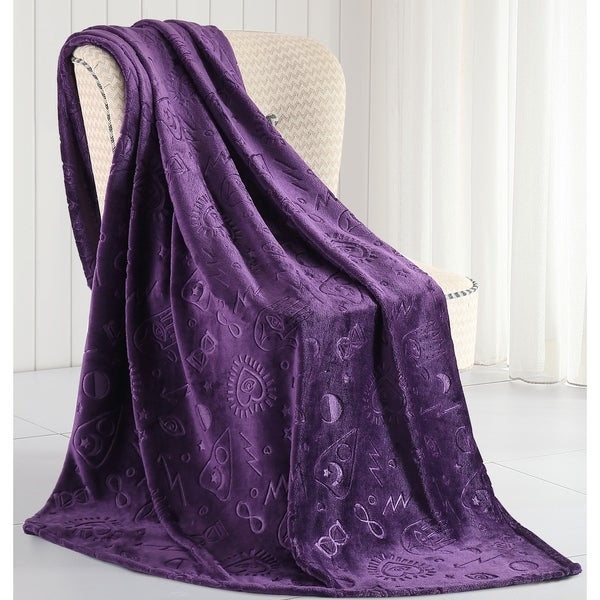 Asher Home Merlin Magical Plush Throw Blanket - 50 inches wide x 70 inches long