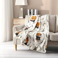 Asher Home Plush Woodland Critters Throw Blanket - 50 inches wide x 70 inches long