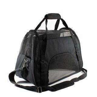 ALEKO Portable Pet Travel Shoulder Black Carrier Bag