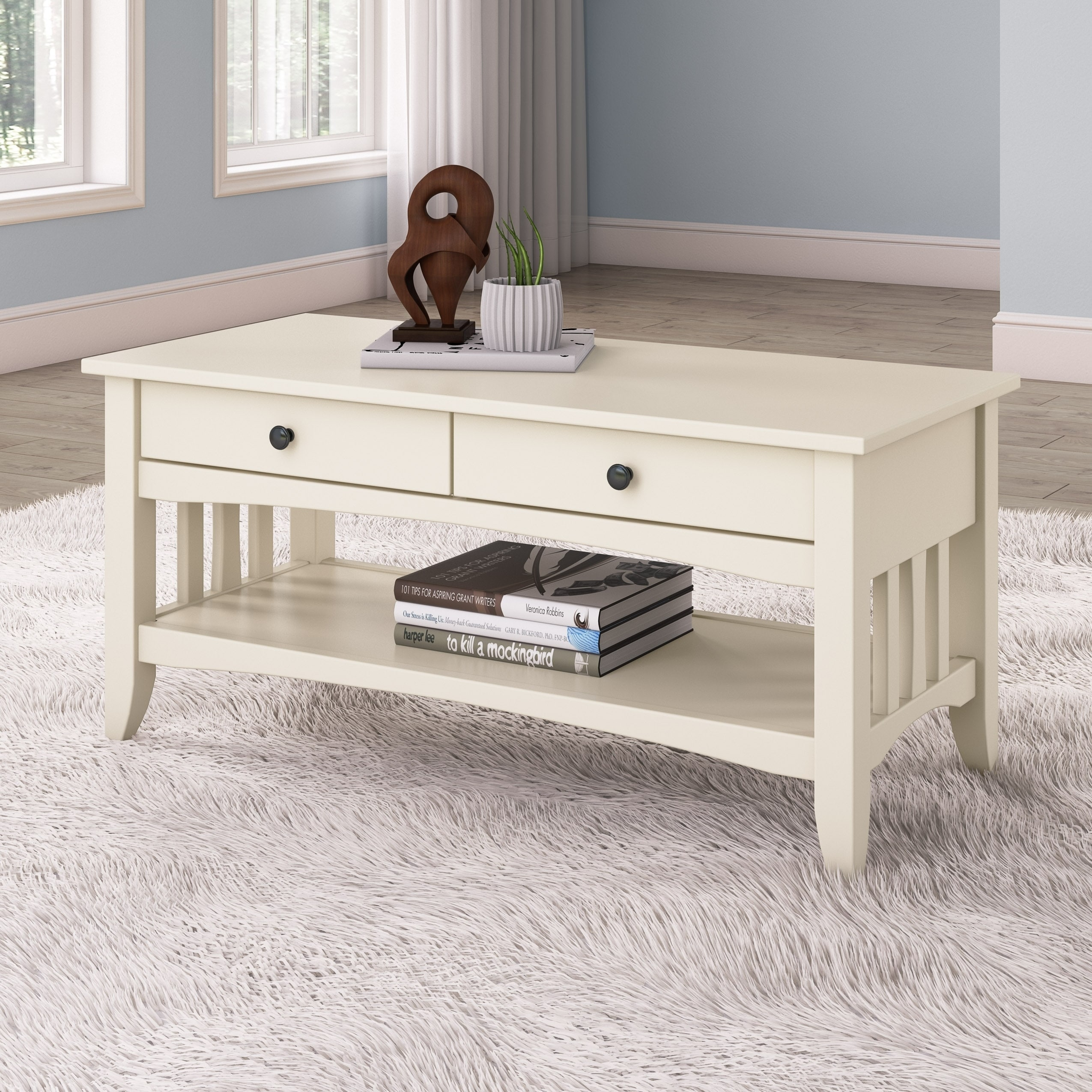 - Shop CorLiving Crestway Painted Coffee Table With Drawers