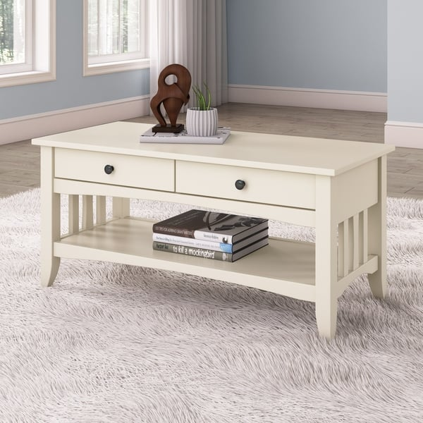 Corliving Crestway Painted Coffee Table With Drawers