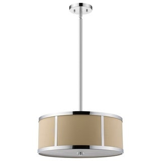 Trend by Acclaim Lighting Butler Chrome/Tan Steel/Linen Convertible Pendant Light