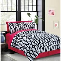 Bed In A Bag/8pcs-250GSMF-PVISC/PR-Queen-Pink-Iron Gate-MHC