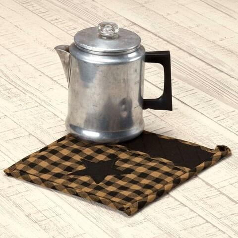 VHC Black Star Raven Primitive Classic Country Tabletop & Kitchen Pot Holder