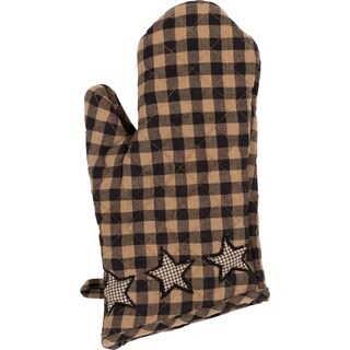VHC Farmhouse Star Charcoal Black Primitive Classic Country Tabletop & Kitchen Oven Mitt