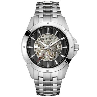 Bulova Men's 96A170 Automatic Skeleton Dial Bracelet Watch