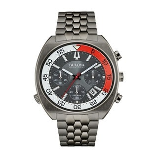 "Bulova Men's 98B253 Accutron II Gunmetal IP Case ""Snorkel"" Chronograph Bracelet Watch"