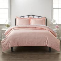 Merit Linens Premium Ultra Soft Pink Buds Pattern 3 Piece Duvet Cover Set