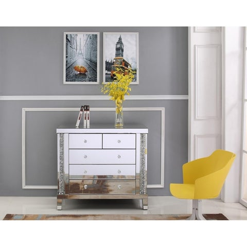 Crystal Mirrored Finish 39-inch Cabinet