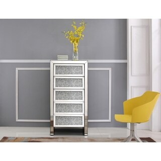 Crystal/Glass/Wood Mirrored Cabinet