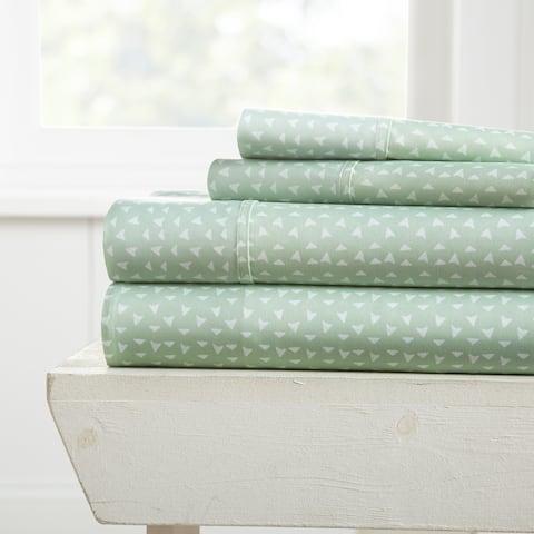 Merit Linens Premium Ultra Soft Urban Arrows Pattern 4 Piece Bed Sheet Set
