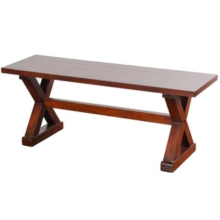 Presley Natural Brown Wood Bench