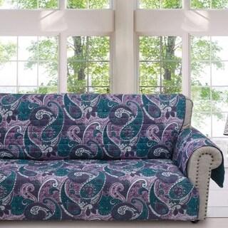 Greenland Home Madison Paisley Purple Sofa Protector