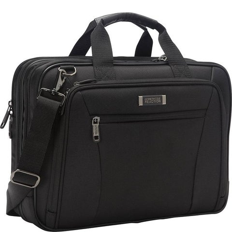 """Kenneth Cole Reaction """"Every Port Of Me"""" 1680D Polyester Dual Compartment Checkpoint Friendly 16in Laptop Business Case"""