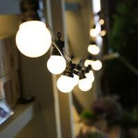 Indoor & Outdoor Plug-in LED Globe-Shaped String Light - 45 ft. Long