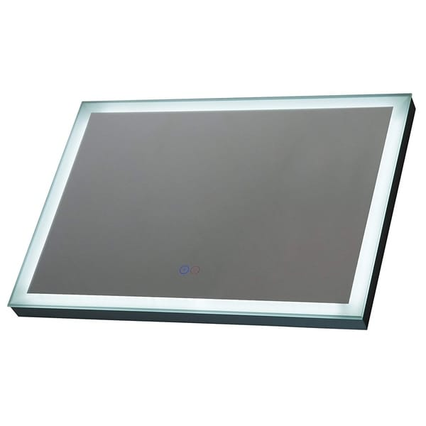 "HomCom 28"" Horizontal LED Illuminated Frame Wall Mounted Bathroom Mirror With Defogger"