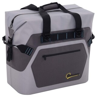 Outsunny 50 Quart Portable Insulated Waterproof Soft-Sided Cooler Picnic Tote Bag - Grey