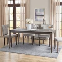 "Madison Park Zemke Grey/ Bronze Dining Table - grey/ bronze  - 69.5""w x 33.25""d x 30""h"